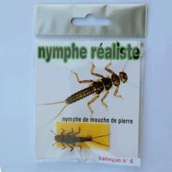 NYMPHE DE MOUCHE DE PIERRE REALISTE
