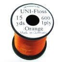 UNI - FLOSS  ( SOIE FLOCHE )  ORANGE